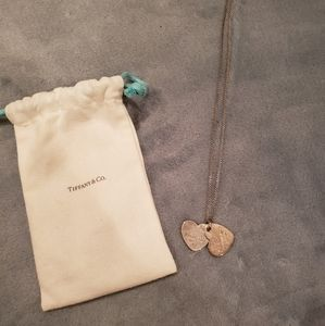 Tiffany & Co. Silver double heart necklace